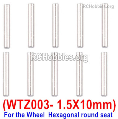 Subotech BG1525 WTZ003 Positioning pin Parts, Axis Pin. With a size of1.5X10mm-10pcs